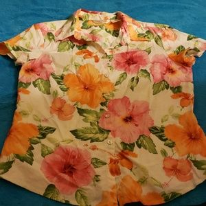 Tommy Bahama stretch button down shirt